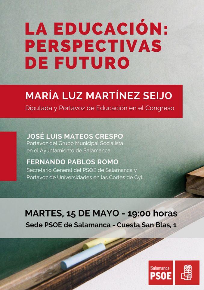 El futuro de la Educación pública a debate en un acto organizado por el PSOE de Salamanca