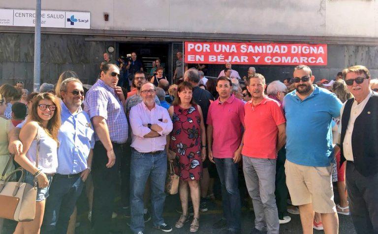 El PSOE apoya la demanda de una asistencia sanitaria digna reivindicada por los vecinos de Béjar y toda su comarca