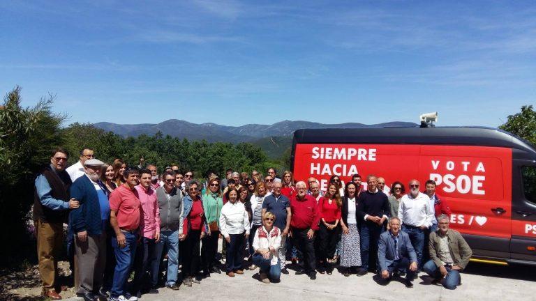 La caravana electoral del PSOE haciendo provincia y apoyando al mundo rural en las comarcas de Béjar, Alba, Guijuelo y La Armuña