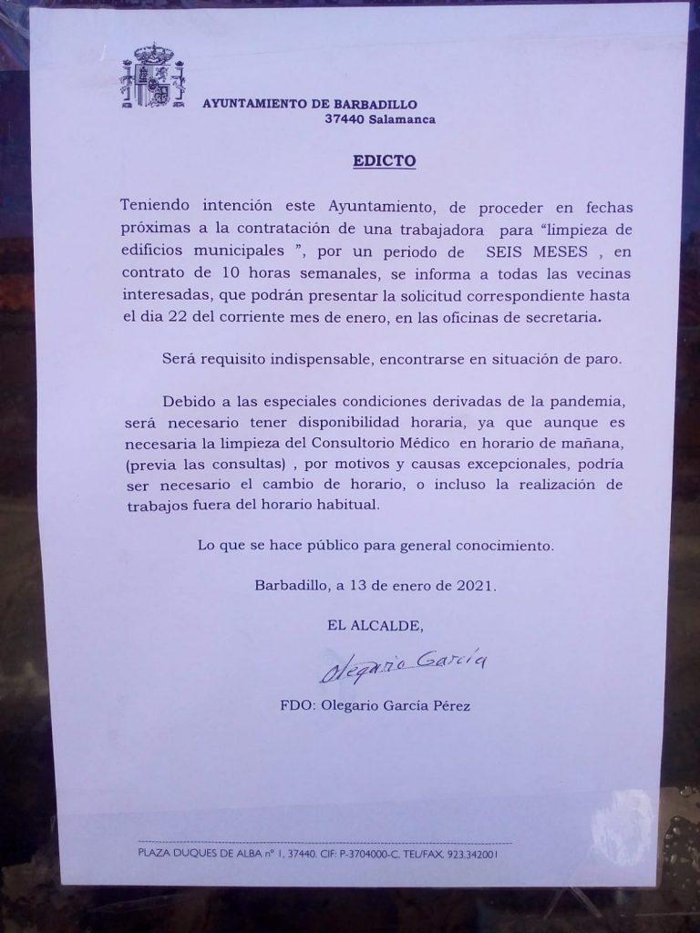 El PSOE denuncia el machismo del alcalde del PP de Barbadillo tras considerar que las tareas de limpieza son cosas de mujeres